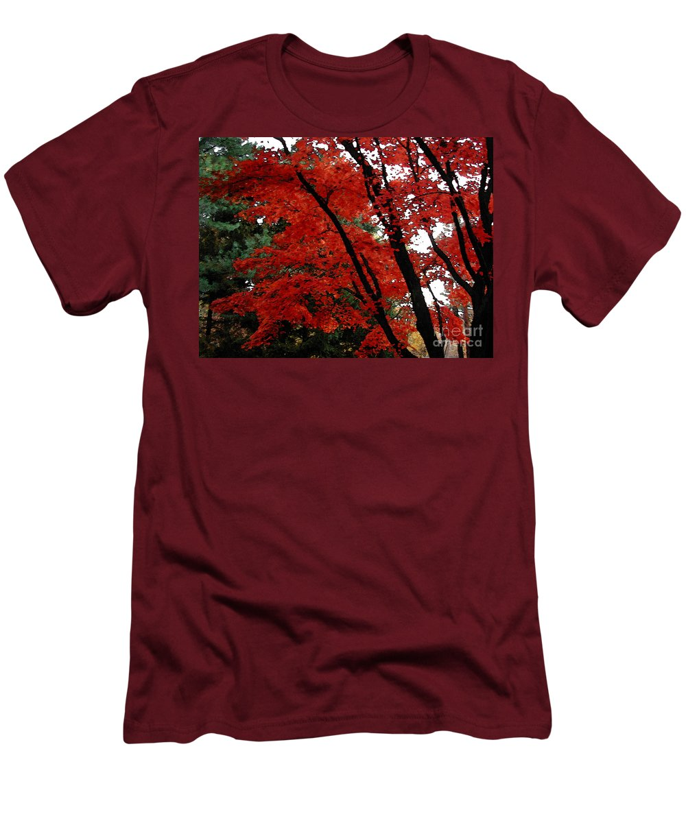 Autumn Men's T-Shirt (Athletic Fit) featuring the photograph Autumn In New England by Melissa A Benson