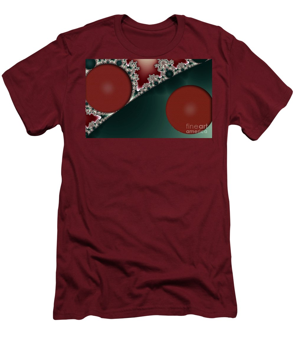 Clay Men's T-Shirt (Athletic Fit) featuring the digital art Brick Foundation by Clayton Bruster