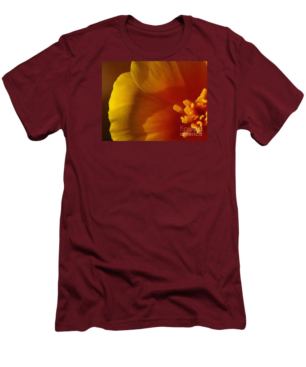 Poppy Men's T-Shirt (Athletic Fit) featuring the photograph Copa De Oro - Vibrant by Linda Shafer