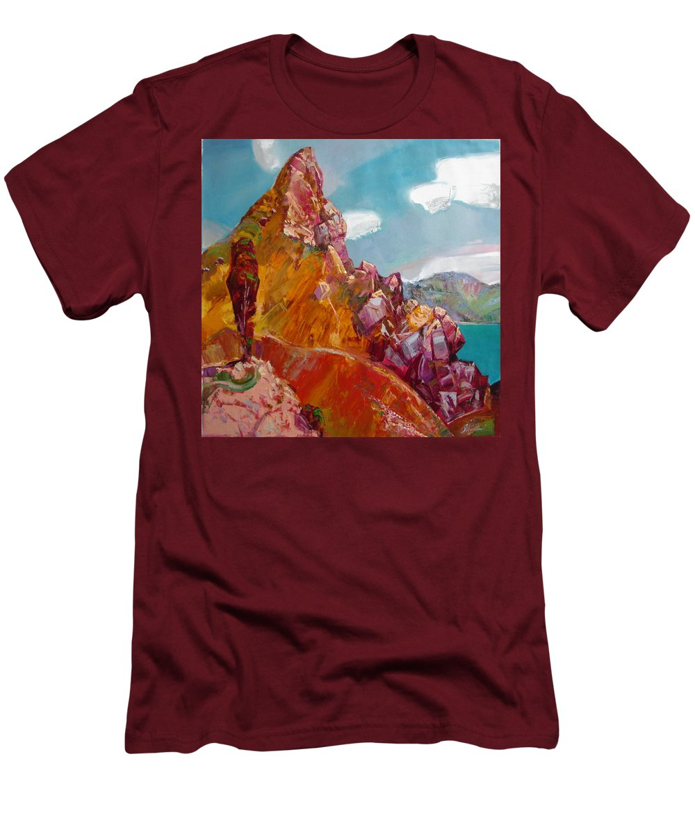 Ignatenko Men's T-Shirt (Athletic Fit) featuring the painting Crimea by Sergey Ignatenko