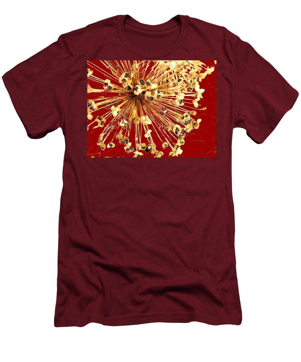 Explosion Men's T-Shirt (Athletic Fit) featuring the photograph Explosion Enhanced by Ian MacDonald