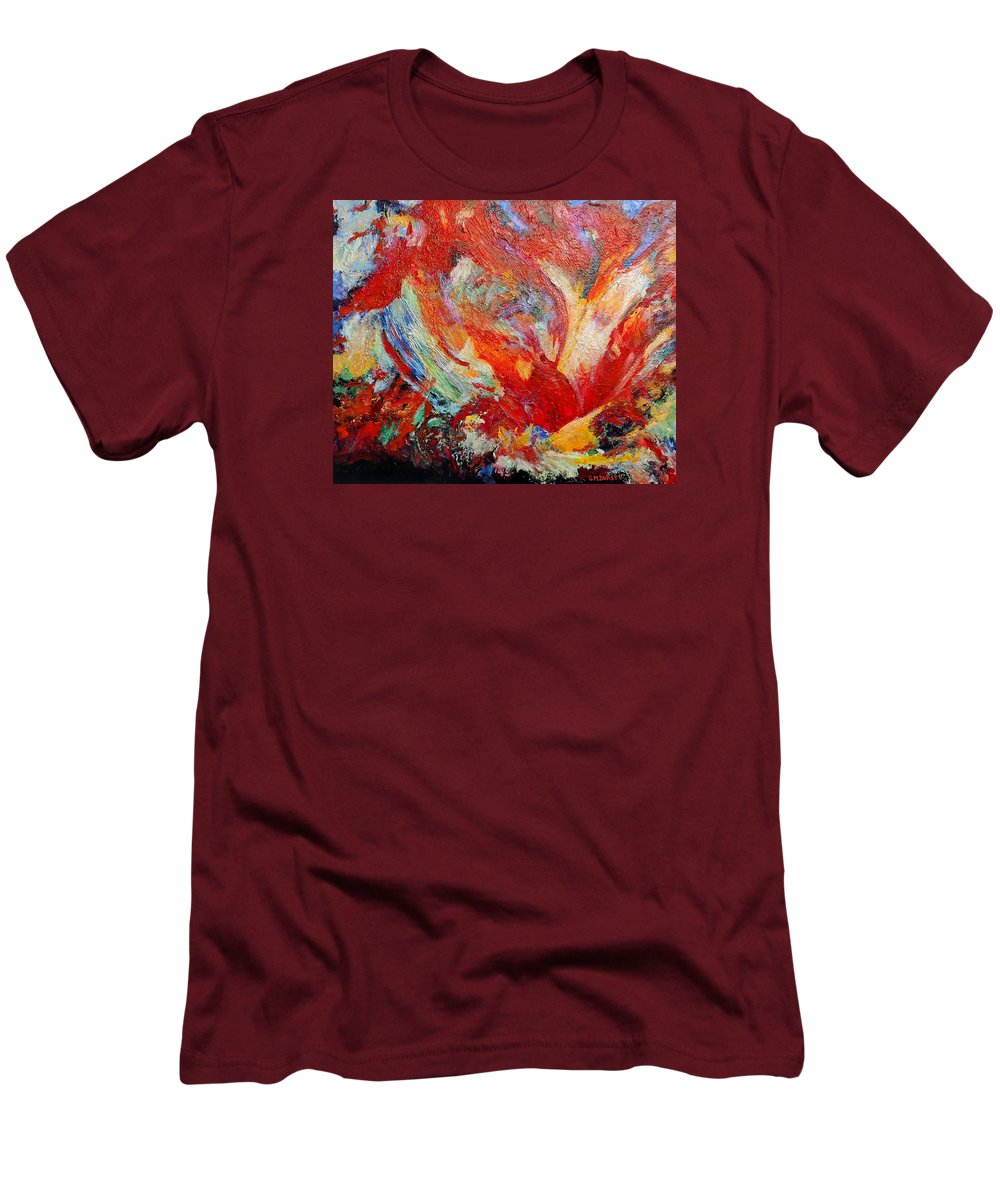 Abstract Men's T-Shirt (Athletic Fit) featuring the painting Exuberance by Michael Durst
