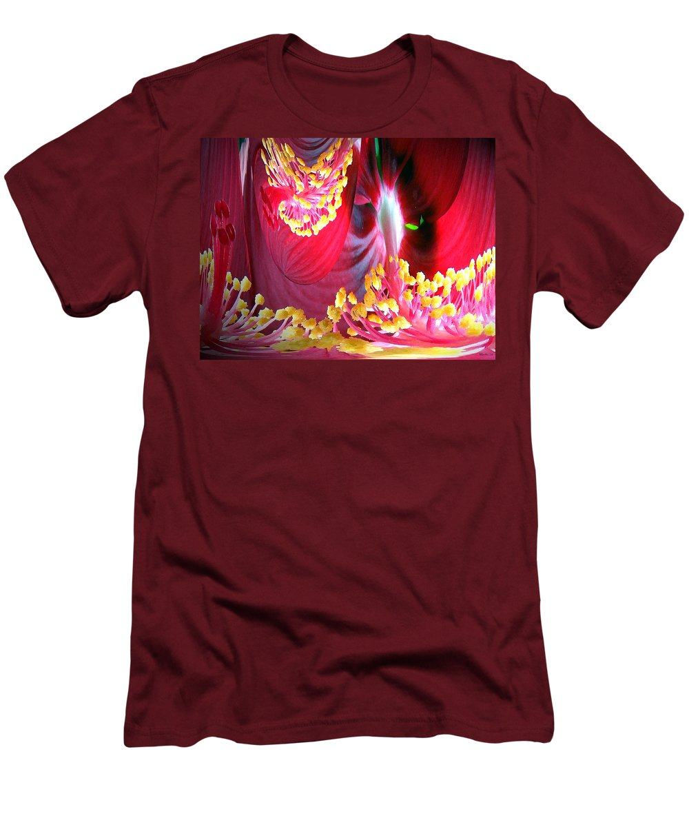 Fairytale Men's T-Shirt (Athletic Fit) featuring the photograph Fairytale Forest by Merja Waters