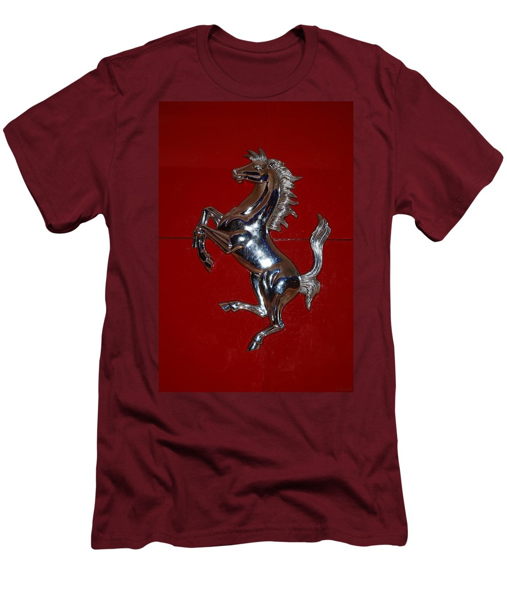 Pop Art Men's T-Shirt (Athletic Fit) featuring the photograph Ferrari Stallion by Rob Hans