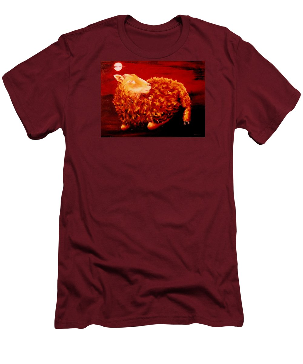 Sunset Men's T-Shirt (Athletic Fit) featuring the painting Golden Fleece by Mark Cawood