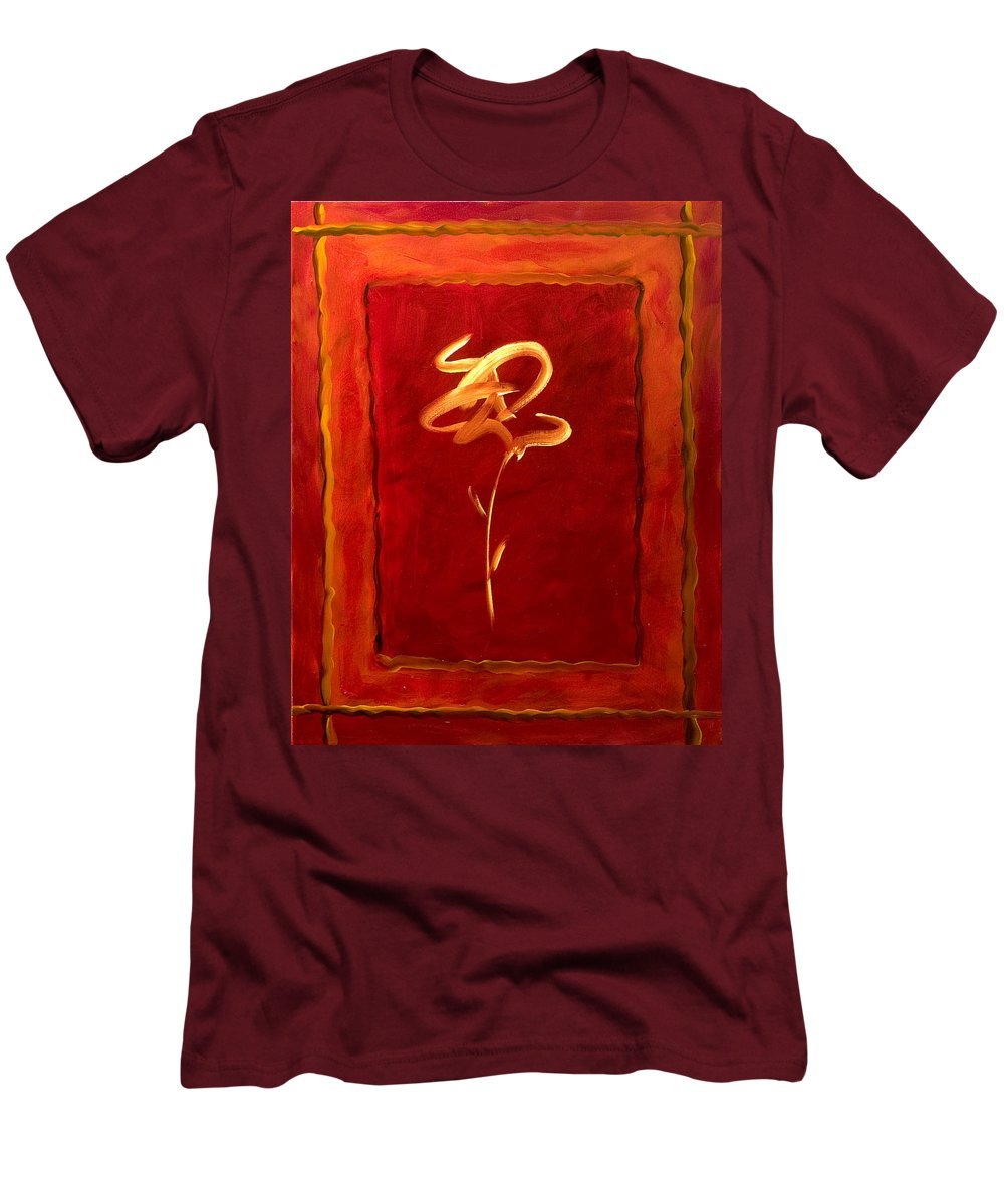 Abstract Flower Men's T-Shirt (Athletic Fit) featuring the painting Gratitude by Shannon Grissom