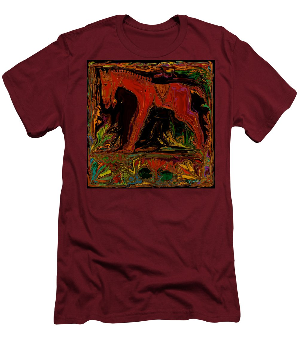 Animal Men's T-Shirt (Athletic Fit) featuring the digital art Horse by Rabi Khan