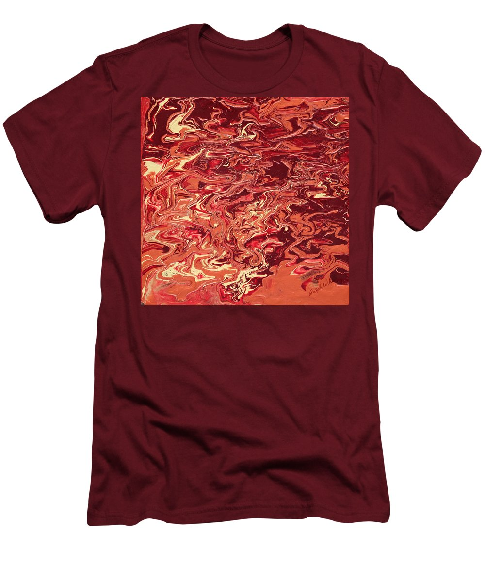 Fusionart Men's T-Shirt (Athletic Fit) featuring the painting Indulgence by Ralph White