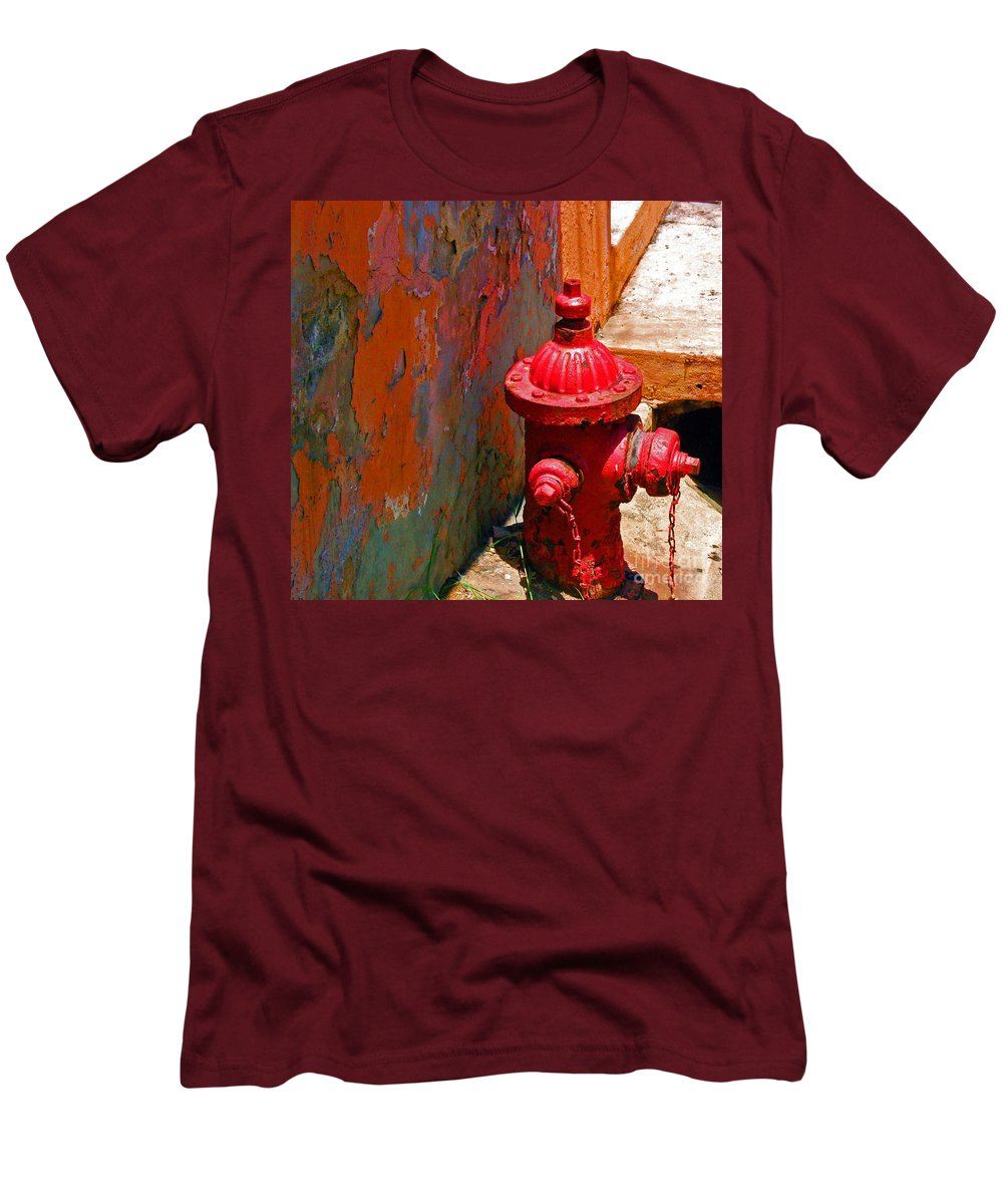 Red Men's T-Shirt (Athletic Fit) featuring the photograph Lil Red by Debbi Granruth