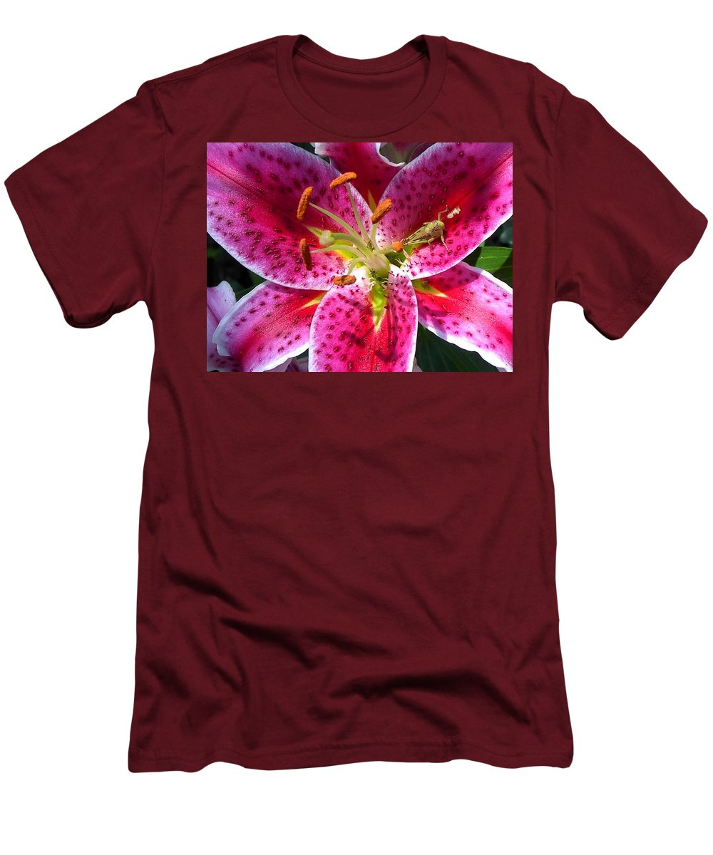 Charity Men's T-Shirt (Athletic Fit) featuring the photograph Lily by Mary-Lee Sanders