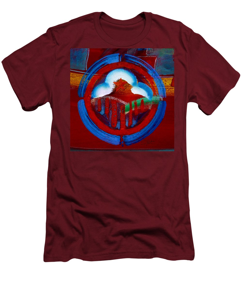 Star Men's T-Shirt (Athletic Fit) featuring the painting Lone Star State by Charles Stuart