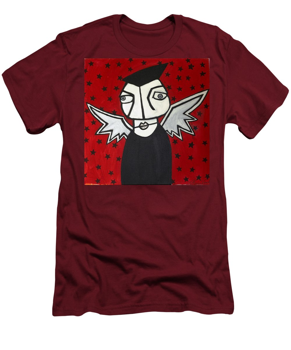 Clay Men's T-Shirt (Athletic Fit) featuring the painting Mr.creepy by Thomas Valentine