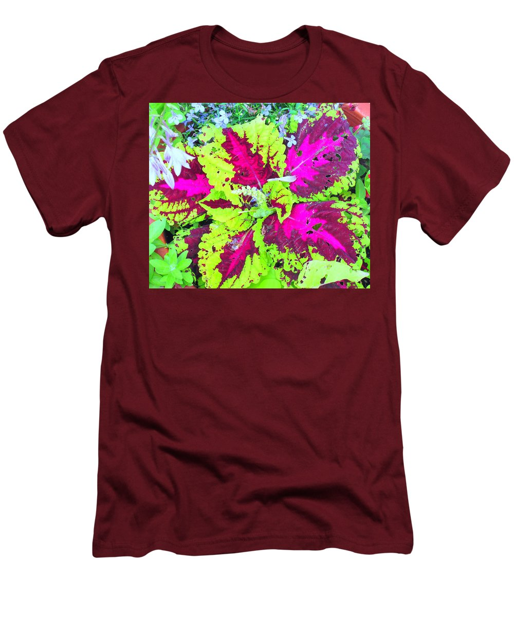 Flower Men's T-Shirt (Athletic Fit) featuring the photograph Natural Abstraction by Ian MacDonald