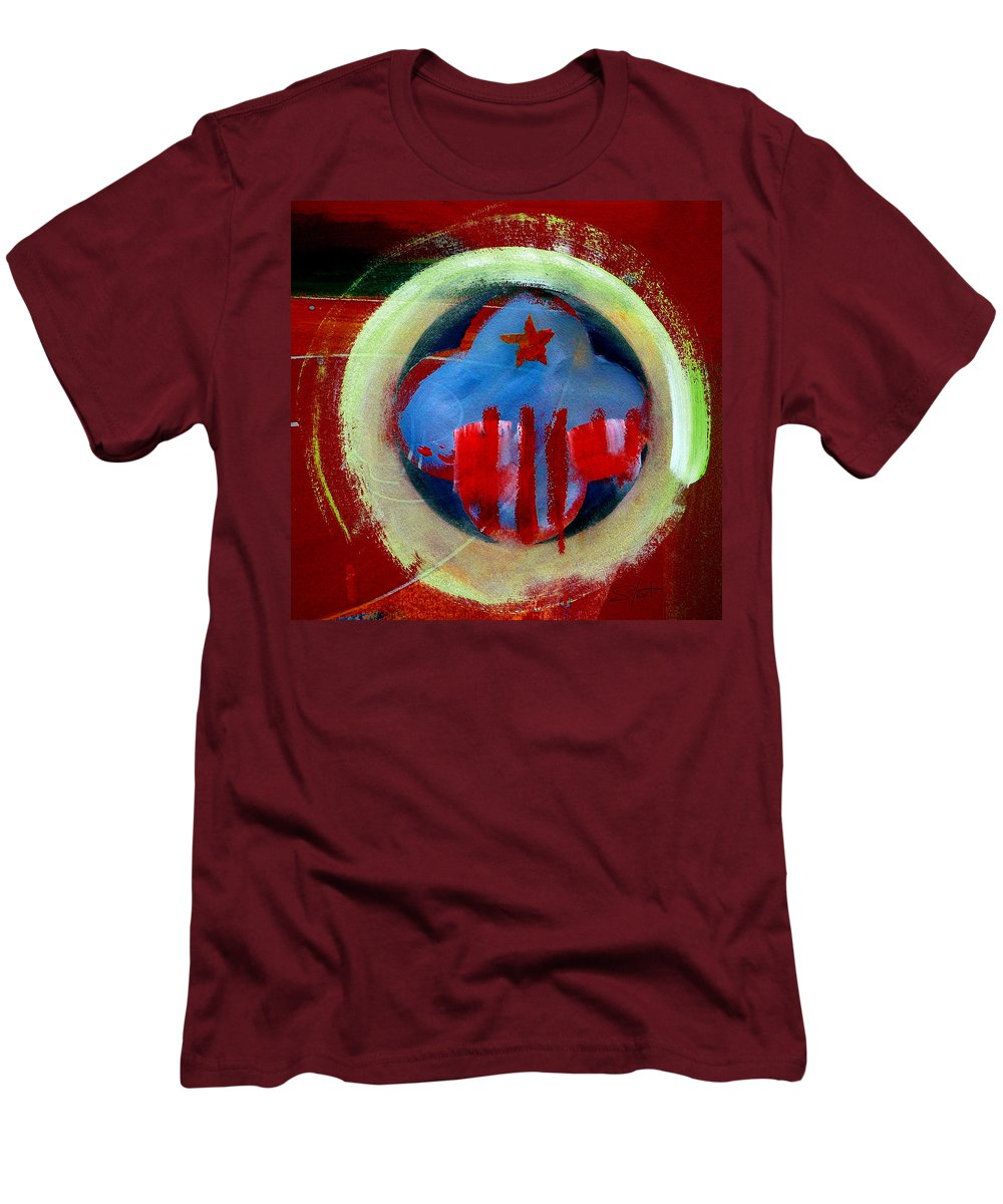 American State Men's T-Shirt (Athletic Fit) featuring the painting Nebraska by Charles Stuart