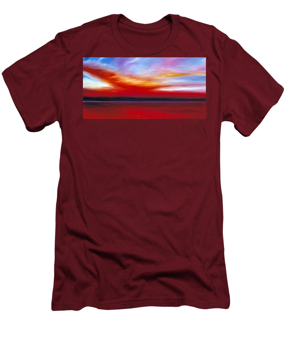 Clouds Men's T-Shirt (Athletic Fit) featuring the painting October Sky by James Christopher Hill