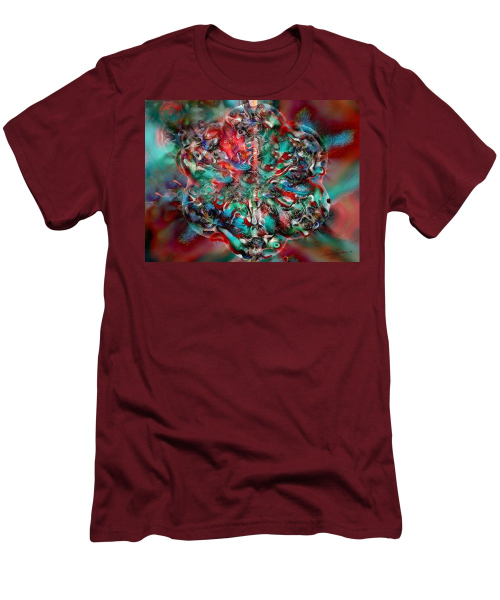 Heart Passion Life Men's T-Shirt (Athletic Fit) featuring the digital art Open Heart by Veronica Jackson