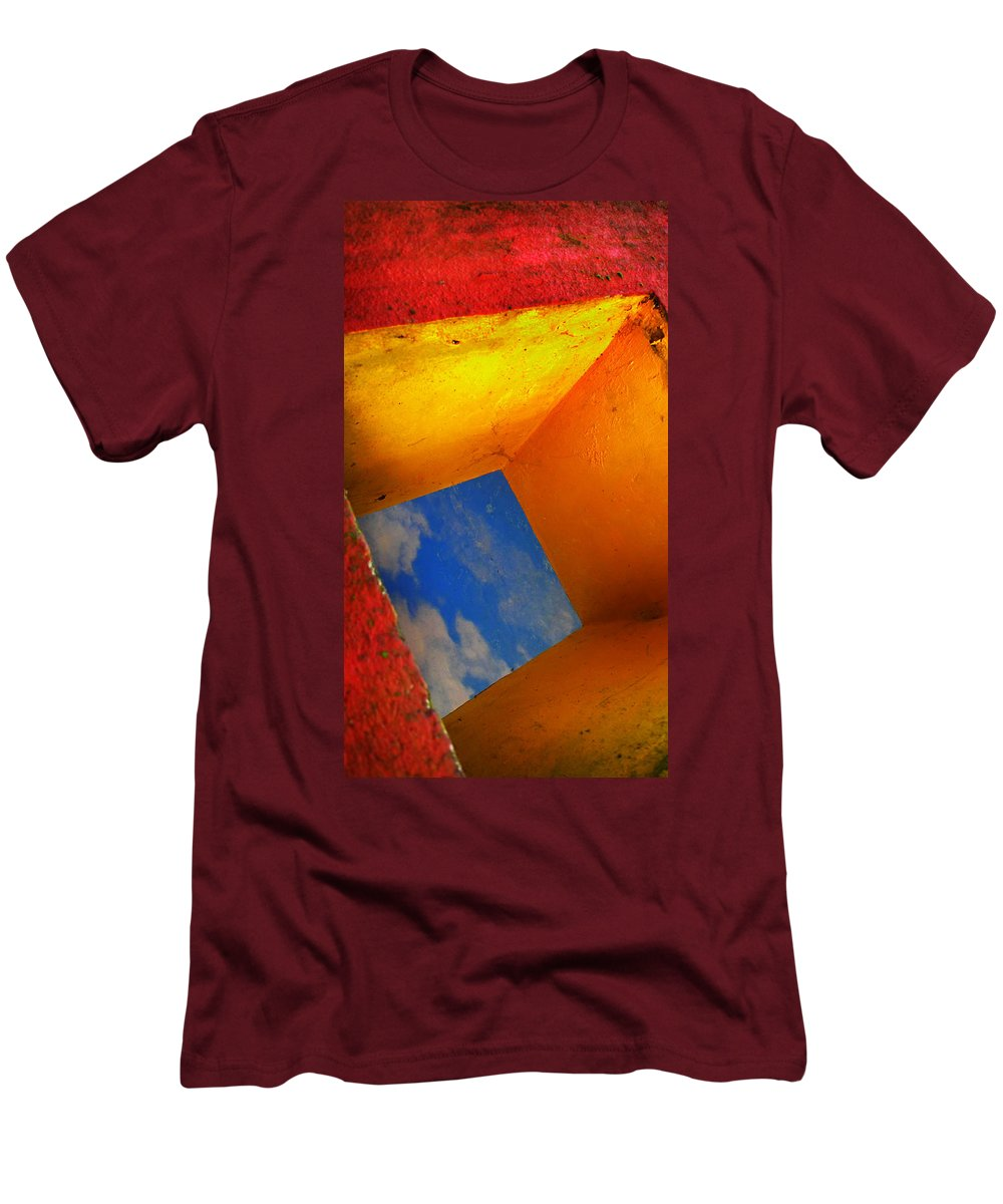 Skip Hunt Men's T-Shirt (Athletic Fit) featuring the photograph Over The Rainbow by Skip Hunt