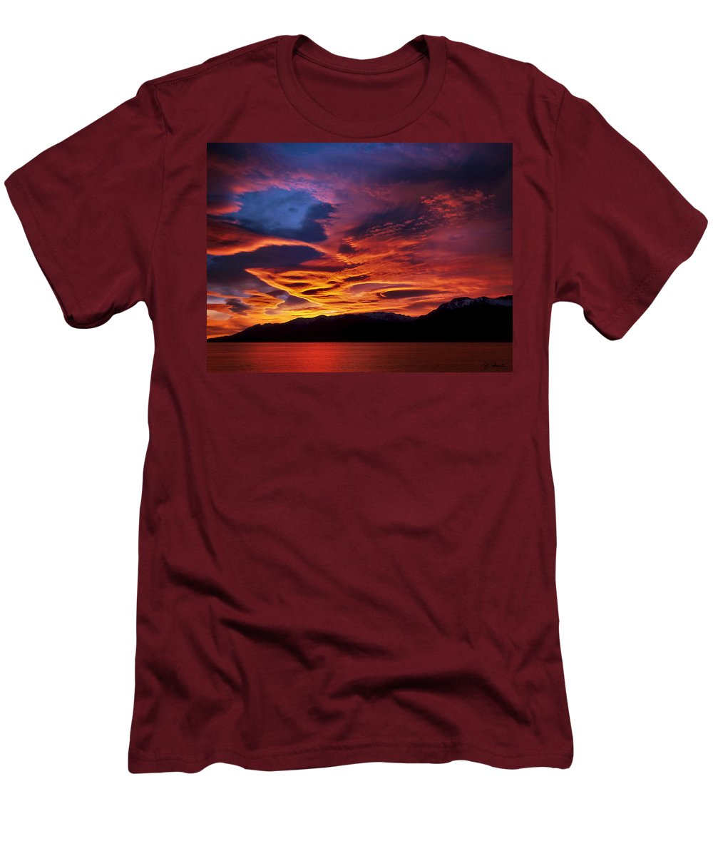 Patagonia Men's T-Shirt (Athletic Fit) featuring the photograph Patagonian Sunrise by Joe Bonita