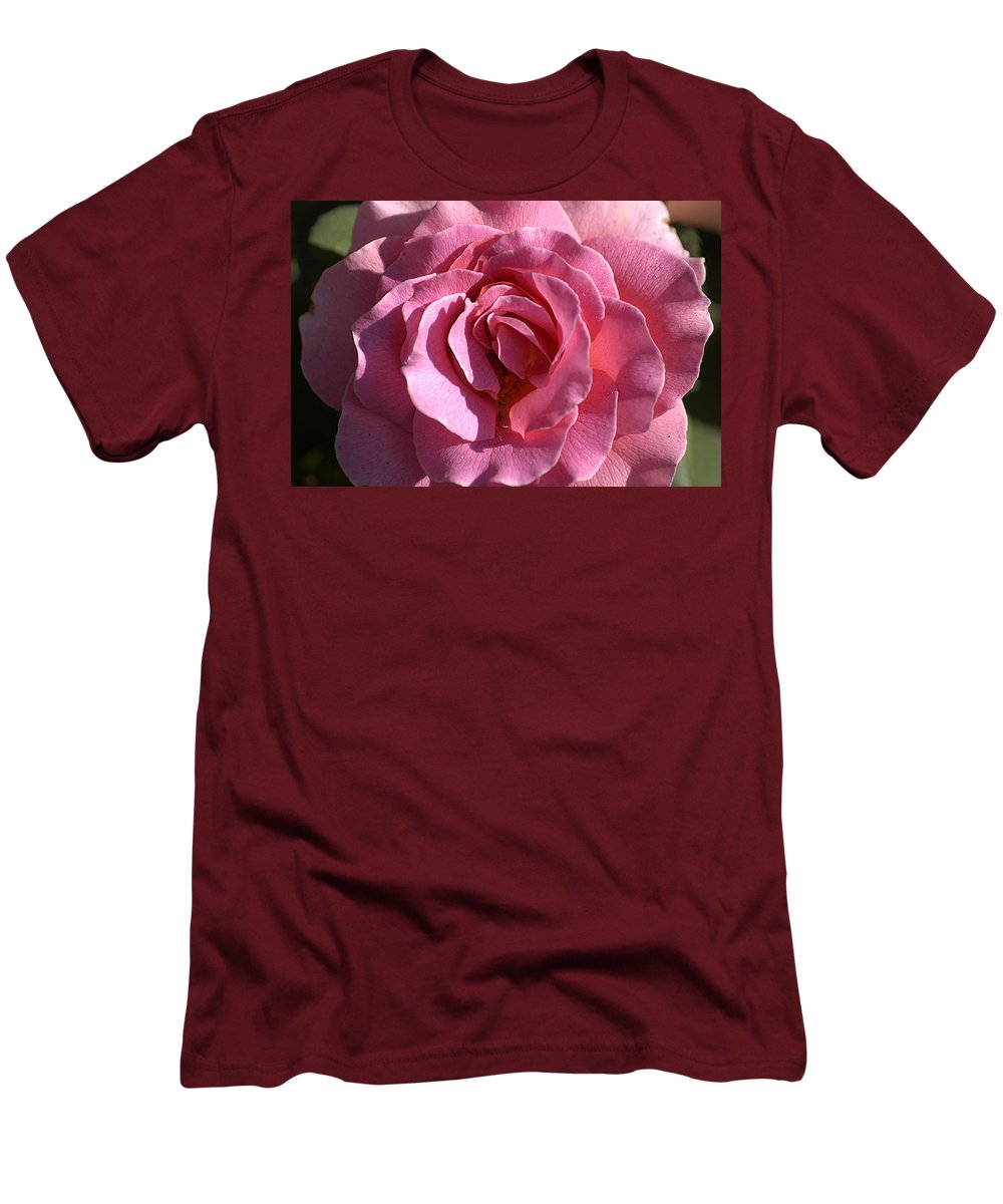 Clay Men's T-Shirt (Athletic Fit) featuring the photograph Pink Rose by Clayton Bruster