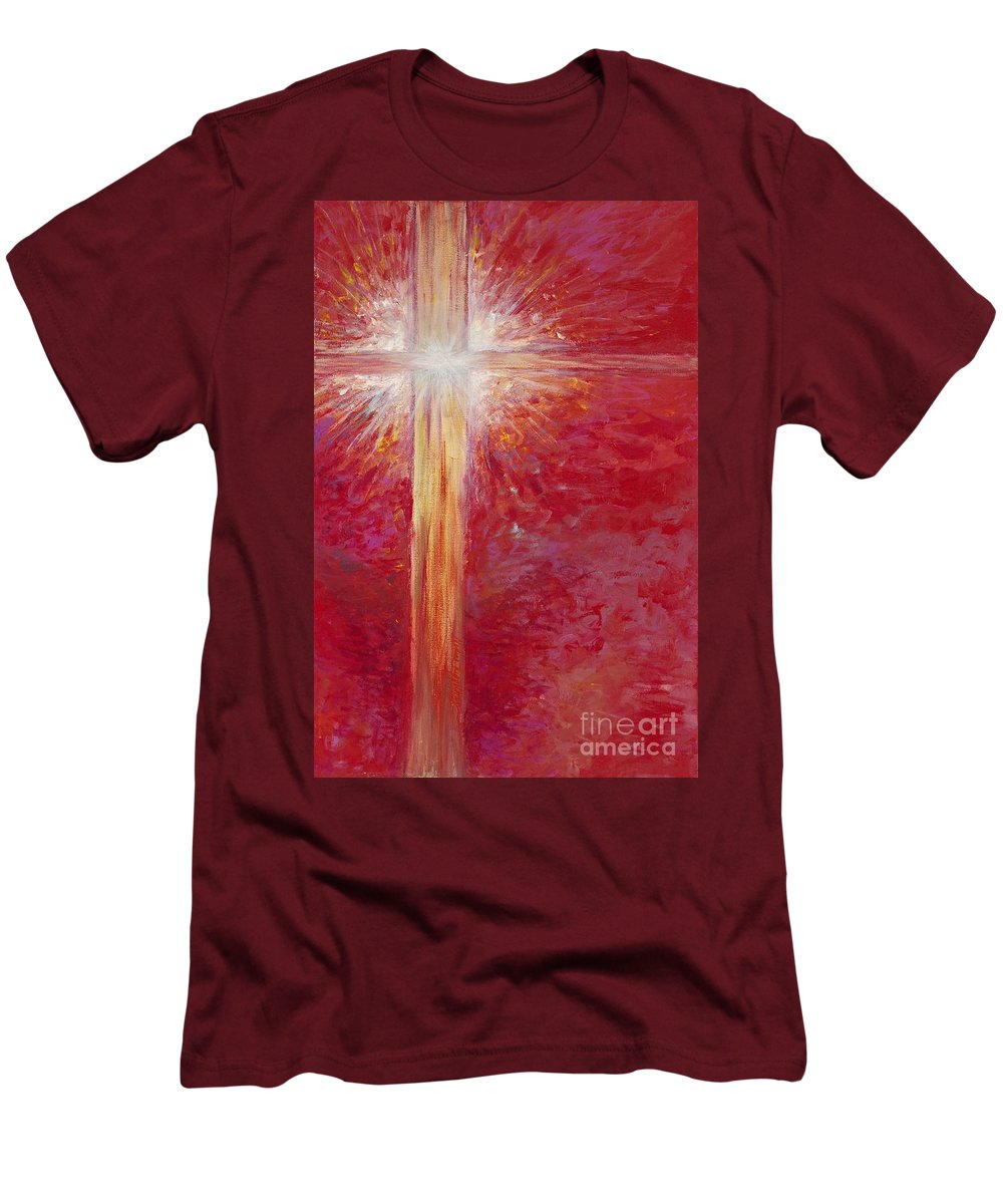 Light Men's T-Shirt (Athletic Fit) featuring the painting Pure Light by Nadine Rippelmeyer