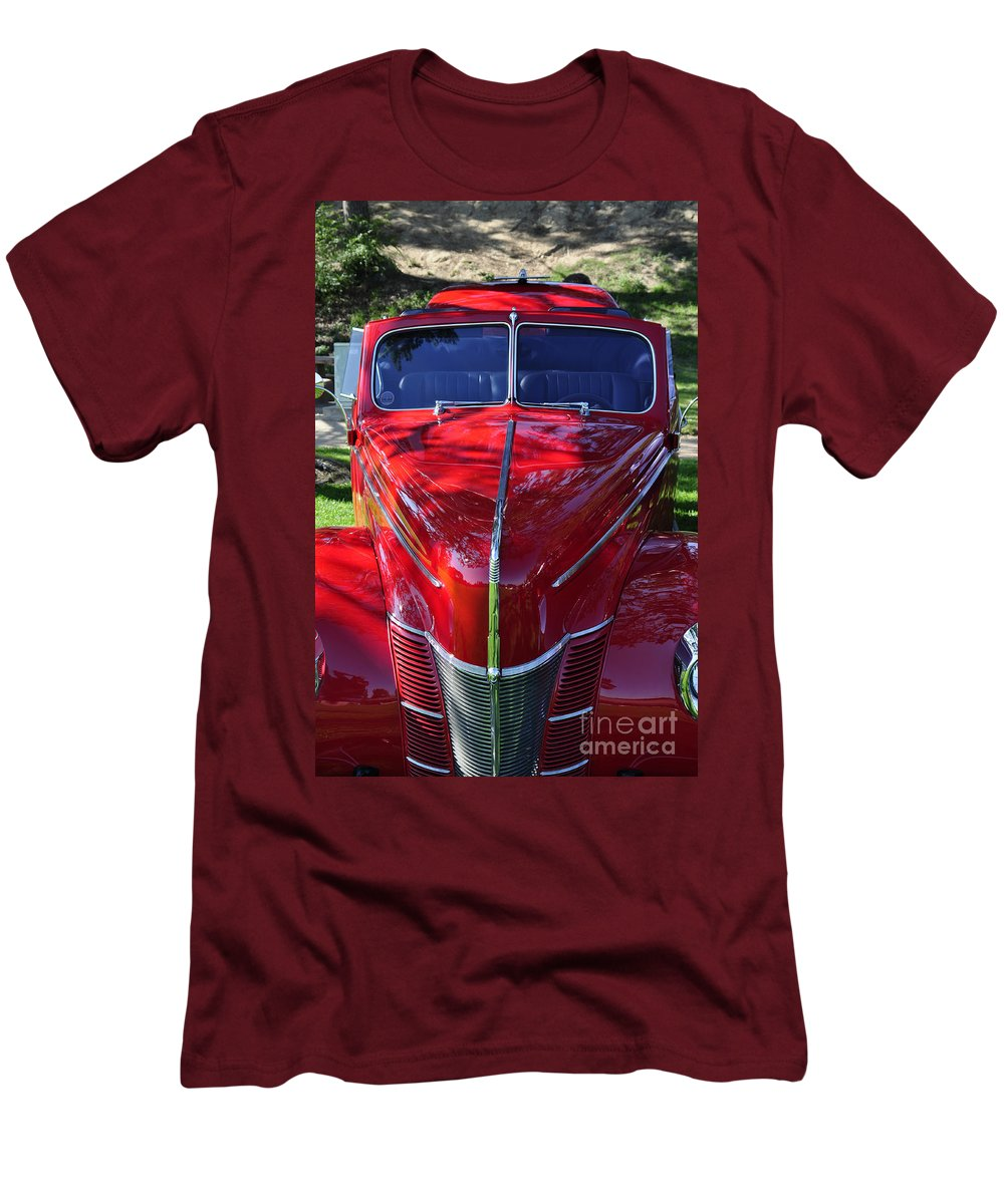Clay Men's T-Shirt (Athletic Fit) featuring the photograph Red Hot Rod by Clayton Bruster