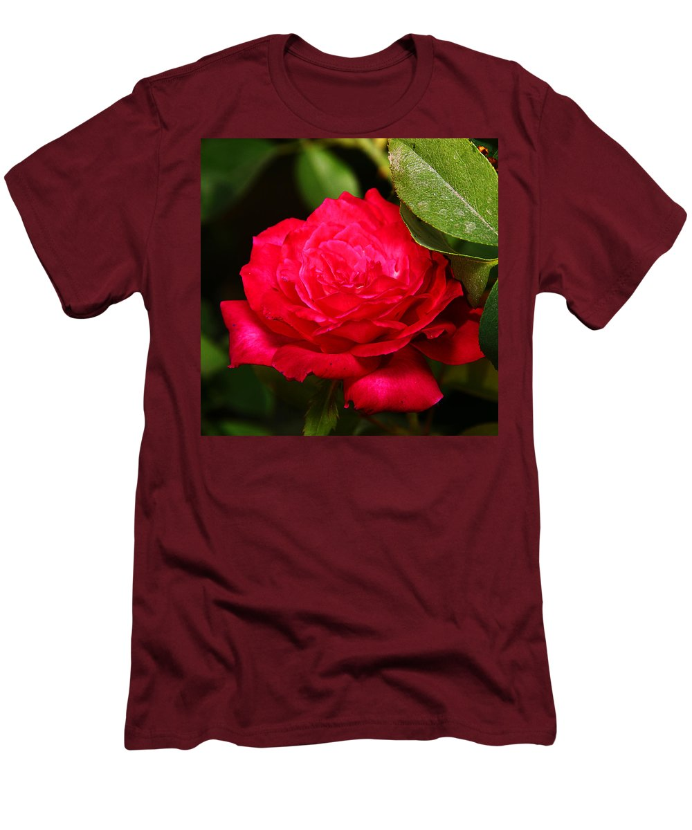 Flower Men's T-Shirt (Athletic Fit) featuring the photograph Rose by Anthony Jones