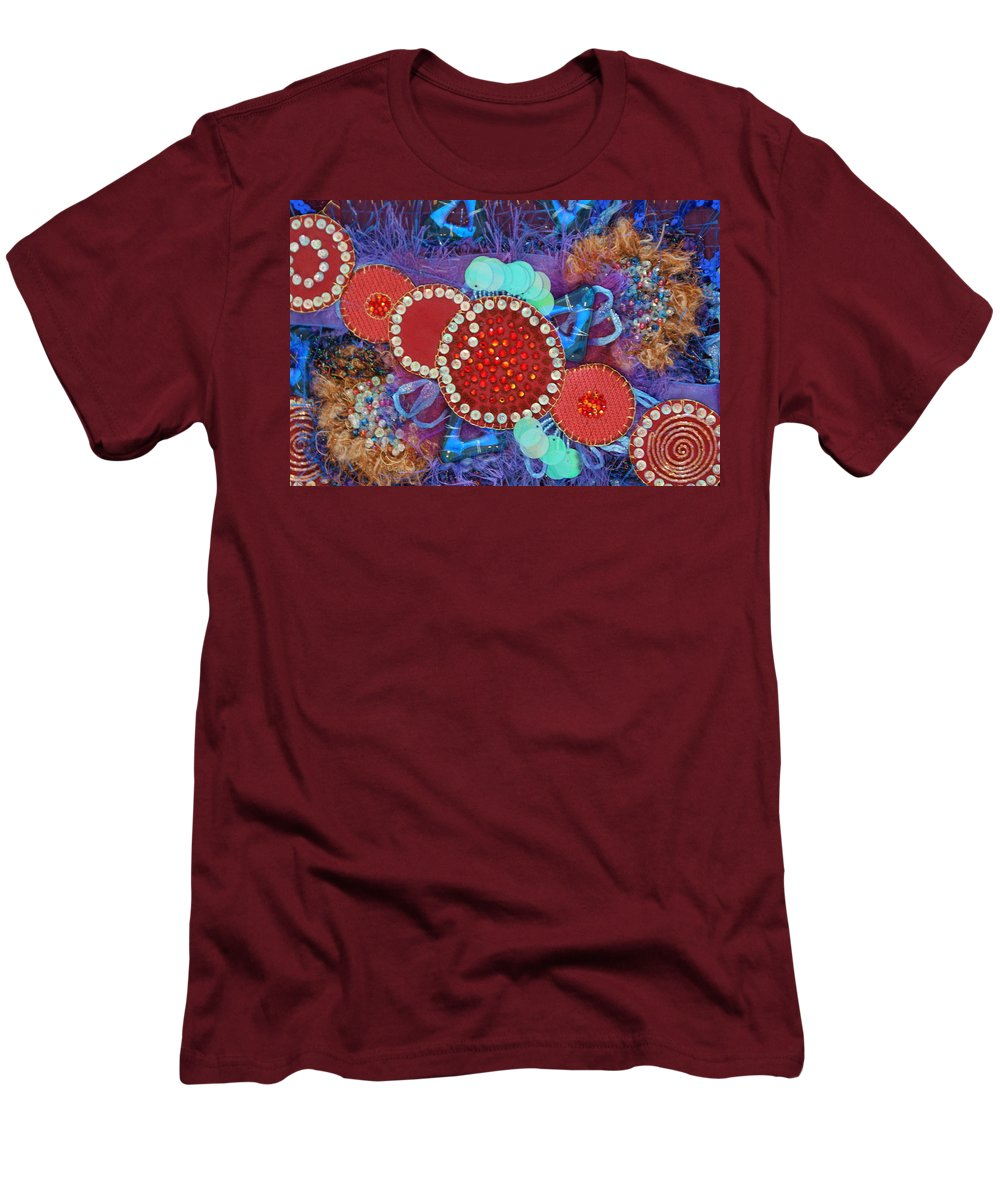 Men's T-Shirt (Athletic Fit) featuring the mixed media Ruby Slippers 2 by Judy Henninger