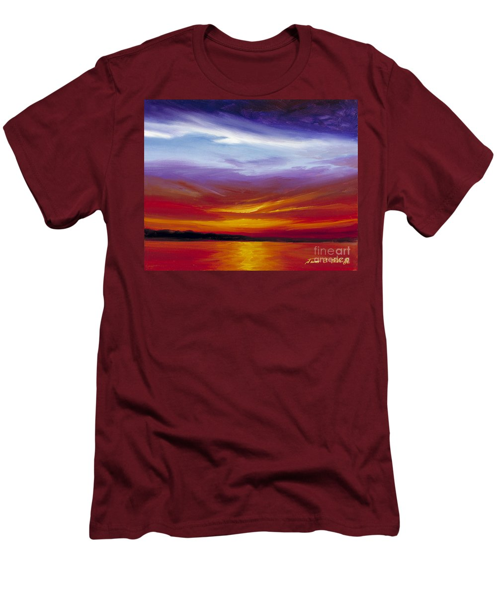 Skyscape Men's T-Shirt (Athletic Fit) featuring the painting Sarasota Bay I by James Christopher Hill