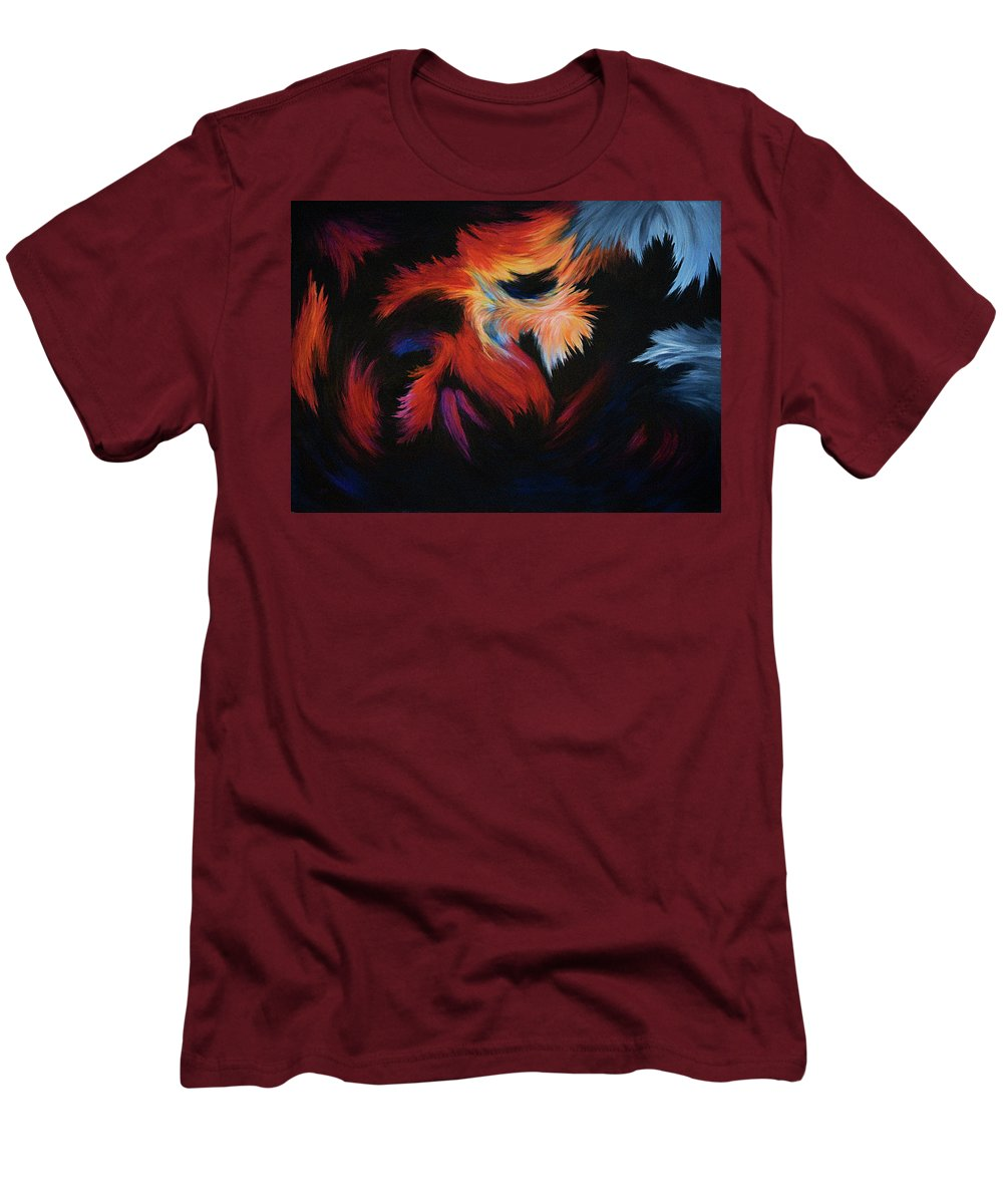 Abstract Men's T-Shirt (Athletic Fit) featuring the painting Seizure by Rachel Christine Nowicki