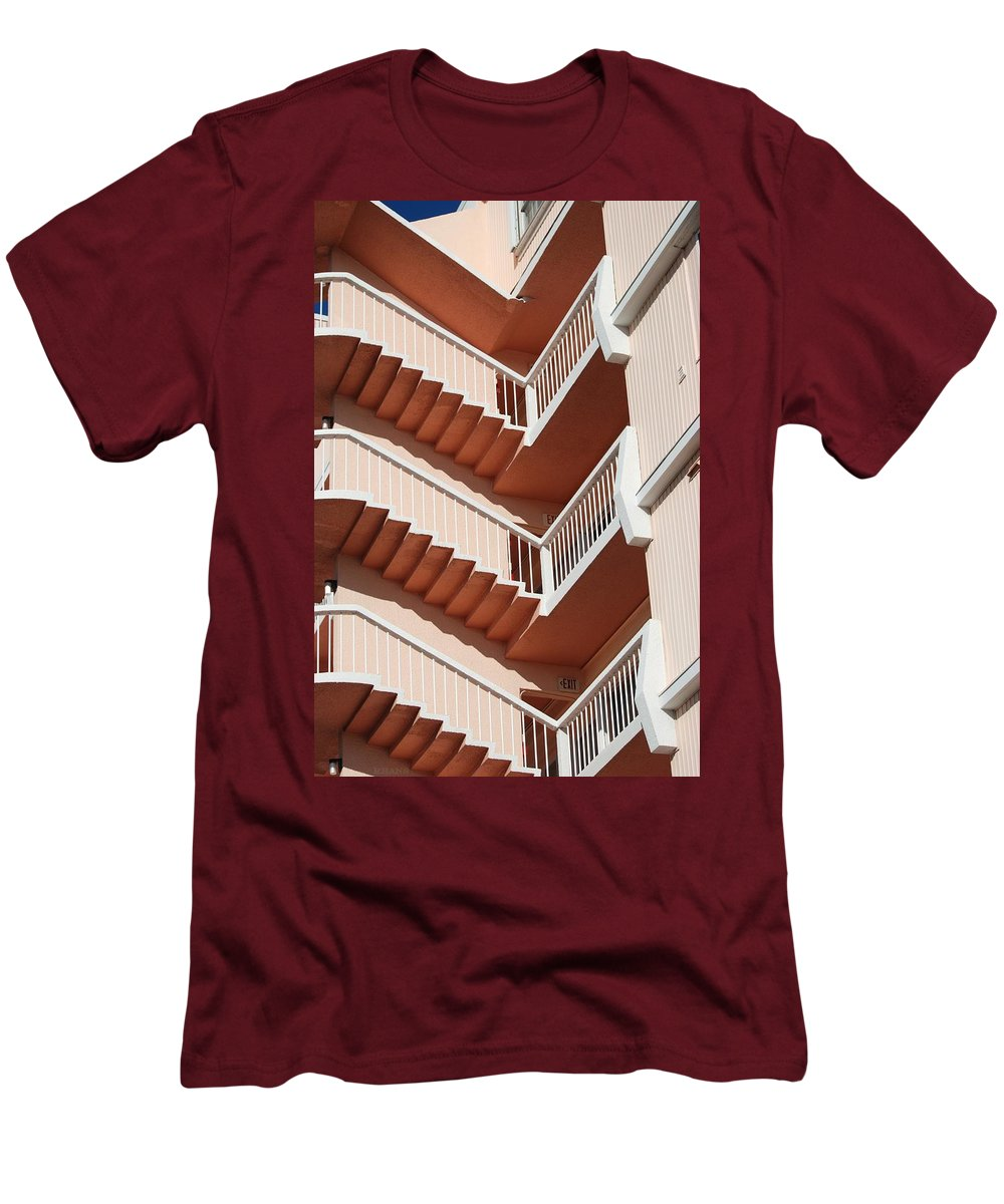 Architecture Men's T-Shirt (Athletic Fit) featuring the photograph Stairs And Rails by Rob Hans