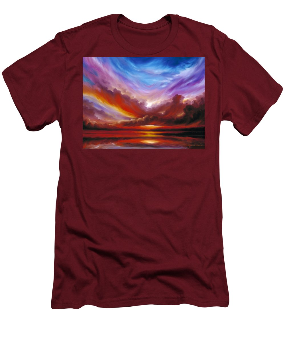 Skyscape Men's T-Shirt (Athletic Fit) featuring the painting The Cosmic Storm II by James Christopher Hill