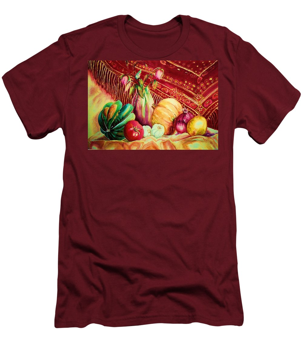 Reds Men's T-Shirt (Athletic Fit) featuring the painting The Red Shawl by Carole Spandau