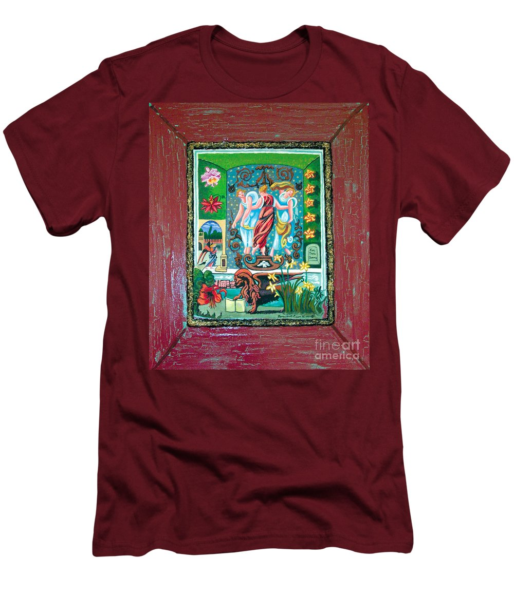 Women Men's T-Shirt (Athletic Fit) featuring the painting The Three Sisters by Genevieve Esson