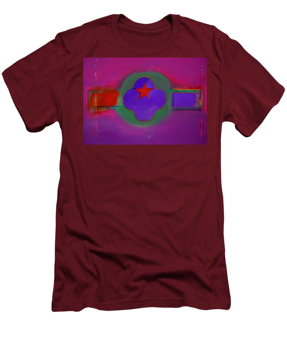 Star Men's T-Shirt (Athletic Fit) featuring the painting Venice Spiritual by Charles Stuart