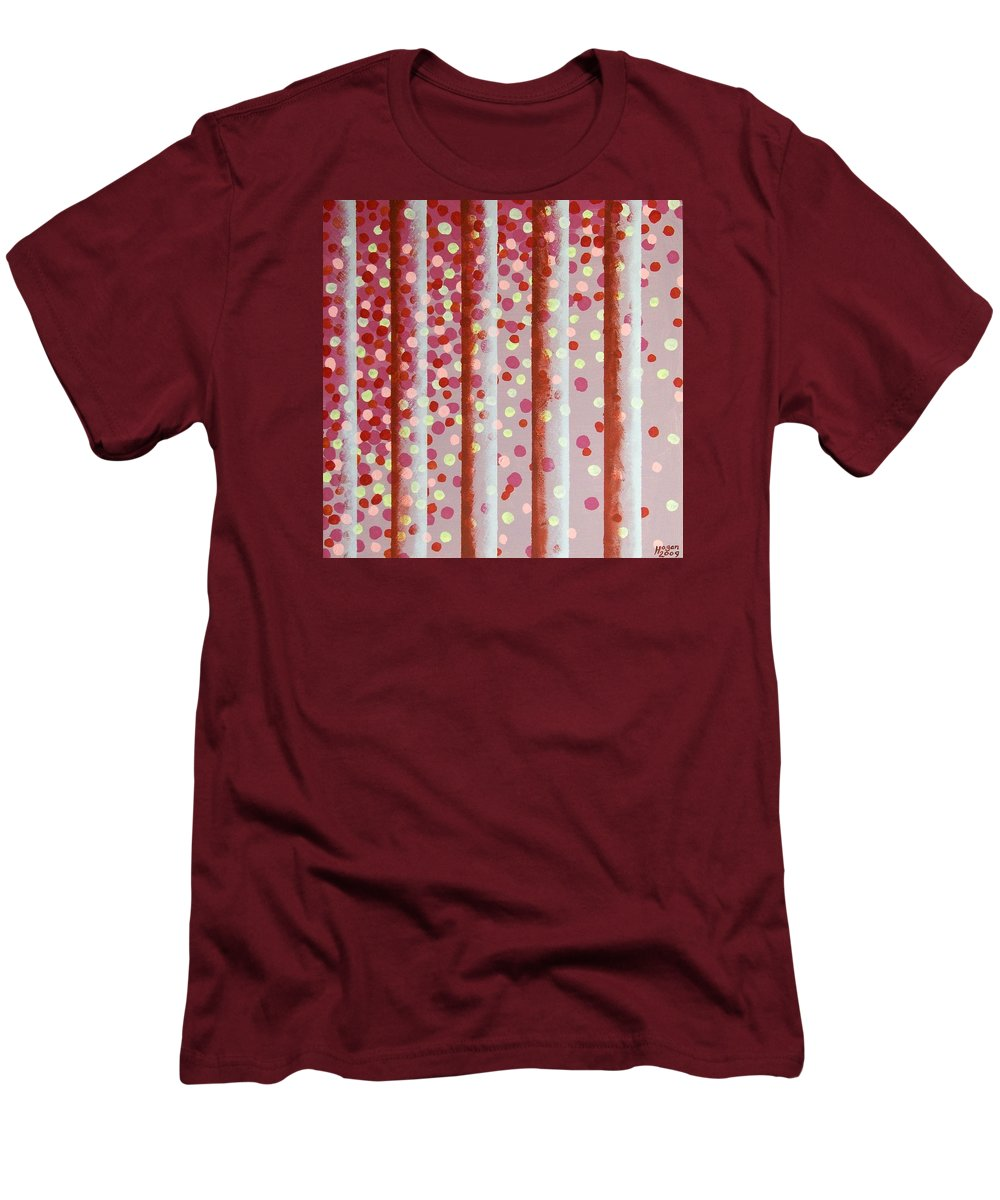 Vertical Bars Men's T-Shirt (Athletic Fit) featuring the painting Vertical Bars by Alan Hogan
