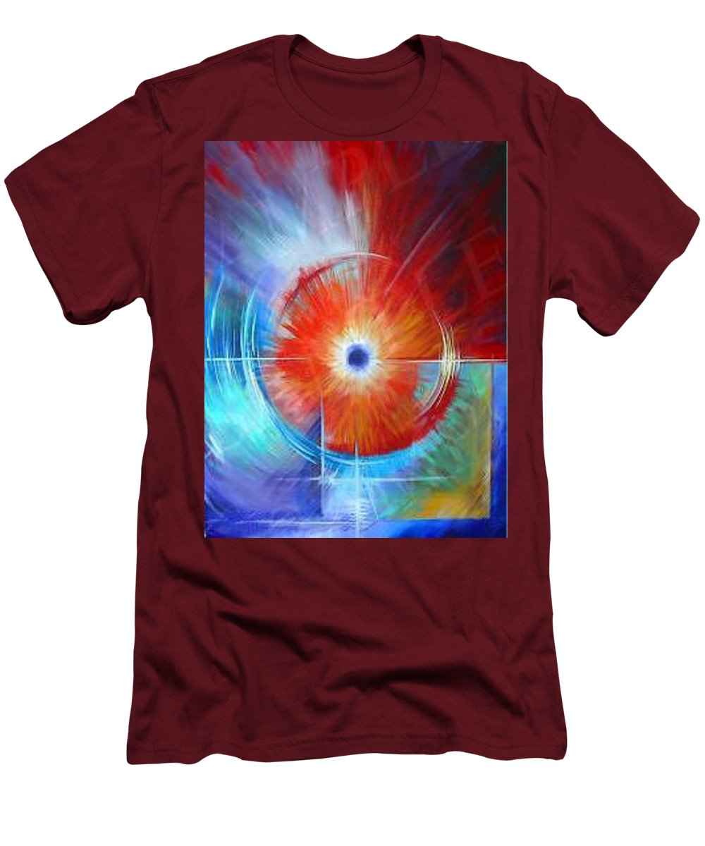 Clouds Men's T-Shirt (Athletic Fit) featuring the painting Vortex by James Christopher Hill