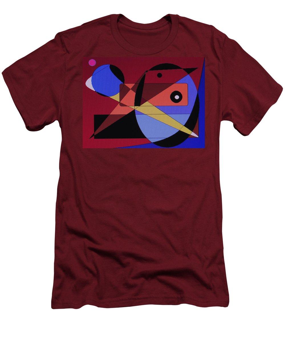 Abstract Bird Men's T-Shirt (Athletic Fit) featuring the digital art Wild Bird by Ian MacDonald