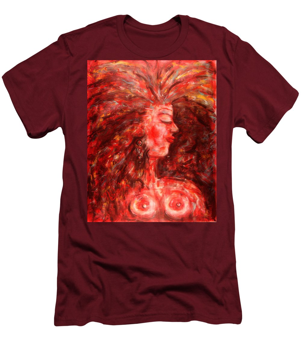 Female Men's T-Shirt (Athletic Fit) featuring the painting Wild One by Natalie Holland