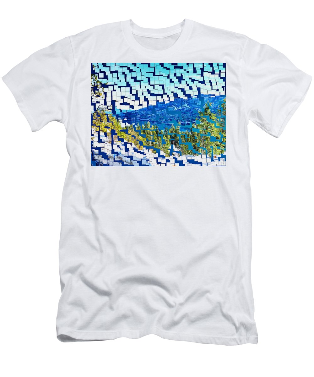 Donner Men's T-Shirt (Athletic Fit) featuring the photograph Breaking Away To Donner Lake by Sue McElligott