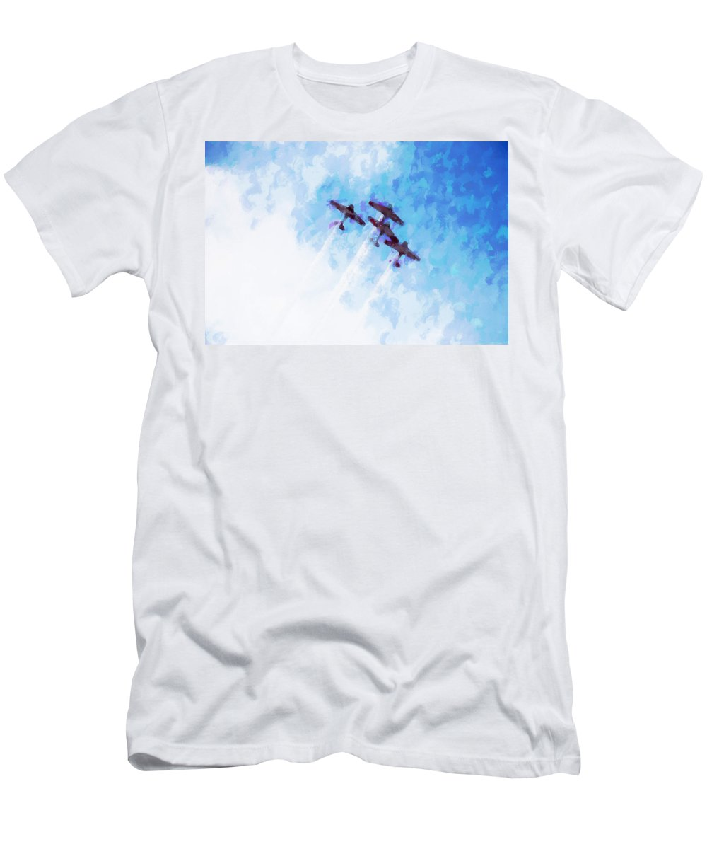 Chicago Men's T-Shirt (Athletic Fit) featuring the digital art 0166 - Air Show - Oil Stain by David Lange