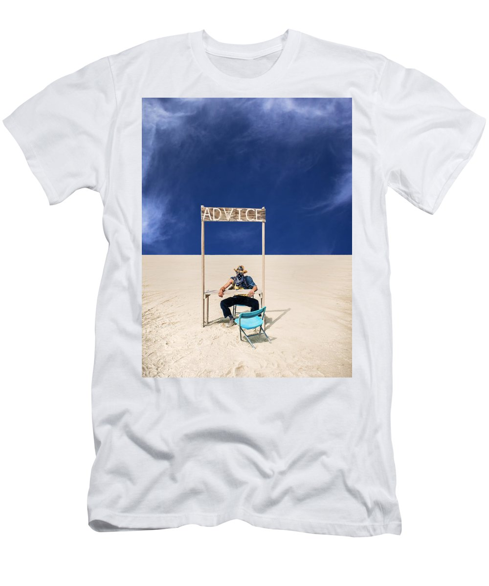 Advice Men's T-Shirt (Athletic Fit) featuring the photograph Advice by Dominic Piperata
