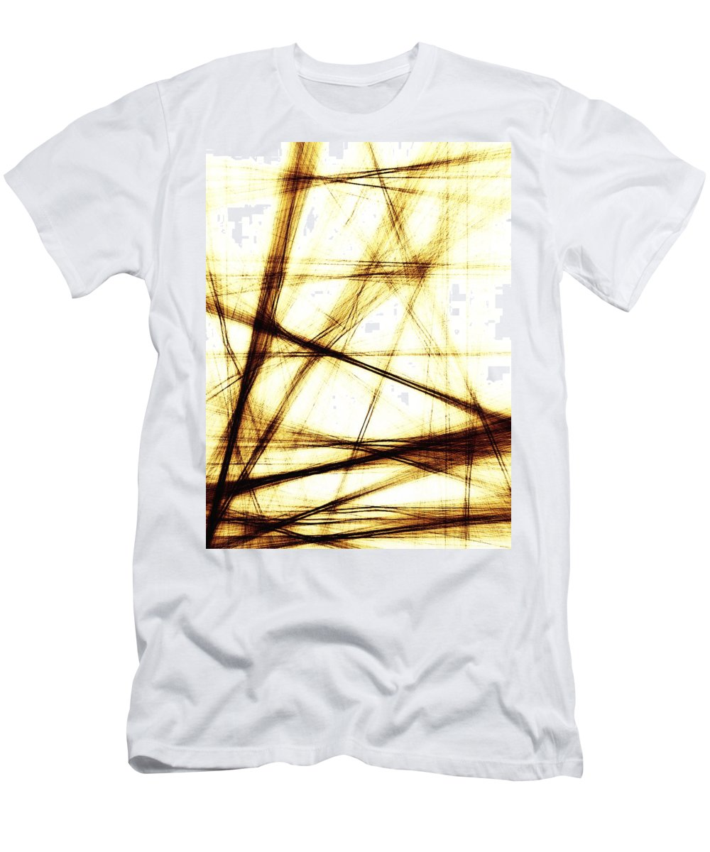Digital Art Men's T-Shirt (Athletic Fit) featuring the digital art Along These Lines by Tina Vaughn