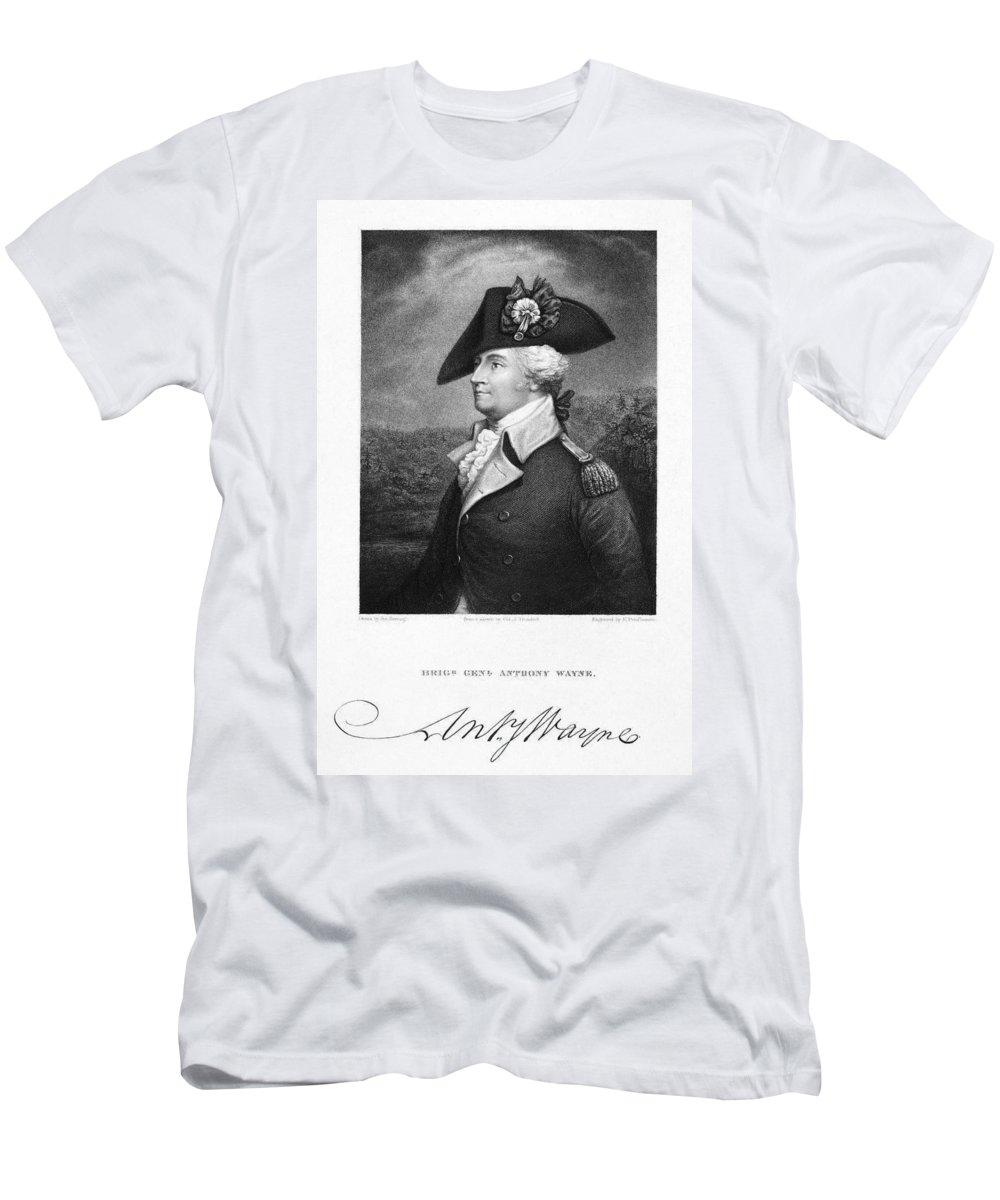 18th Century Men's T-Shirt (Athletic Fit) featuring the photograph Anthony Wayne (1745-1796) by Granger