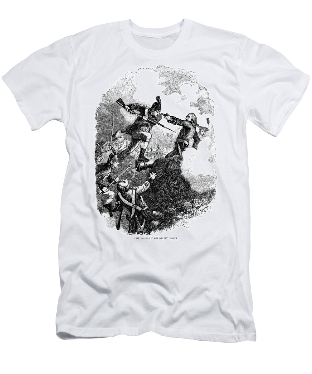 1779 Men's T-Shirt (Athletic Fit) featuring the photograph Battle Of Stony Point, 1779 by Granger