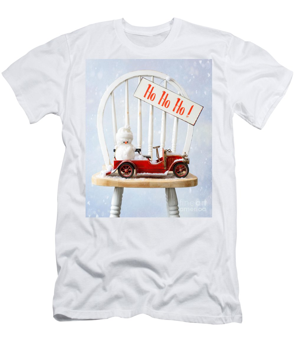 Christmas Men's T-Shirt (Athletic Fit) featuring the photograph Christmas by Amanda Elwell