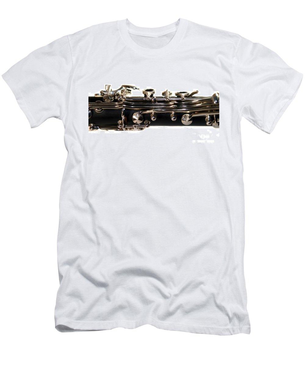 Music Men's T-Shirt (Athletic Fit) featuring the photograph Clarinet by Henrik Lehnerer