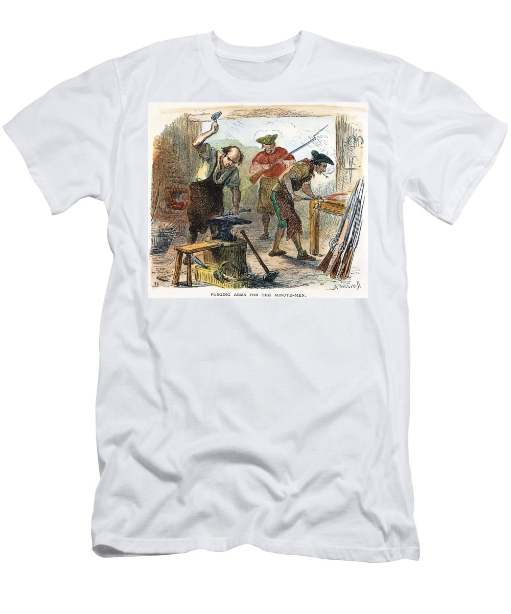 1770s Men's T-Shirt (Athletic Fit) featuring the photograph Colonial Blacksmith, 1776 by Granger