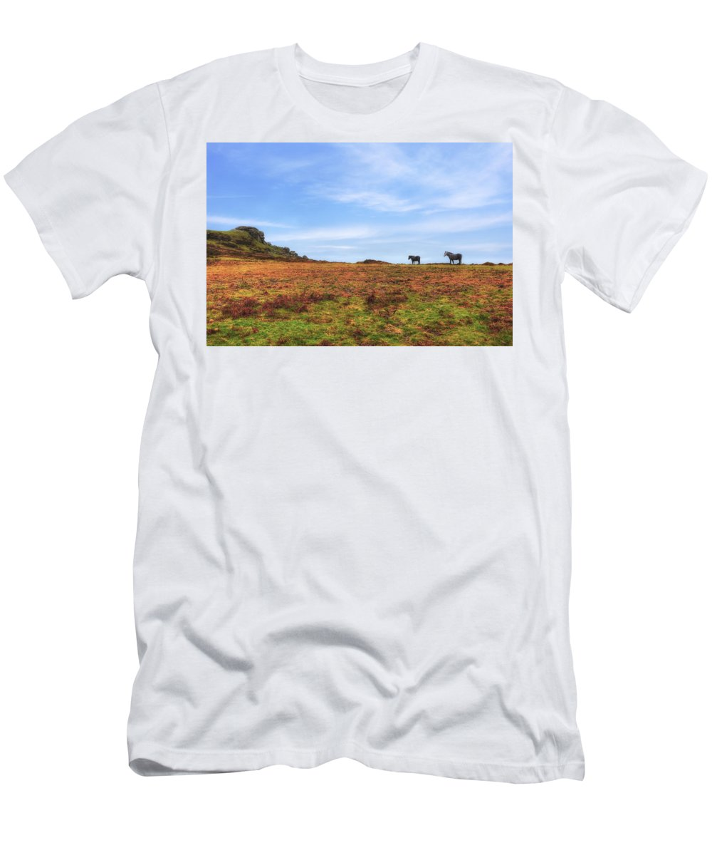 Dartmoor National Park Men's T-Shirt (Athletic Fit) featuring the photograph Dartmoor by Joana Kruse