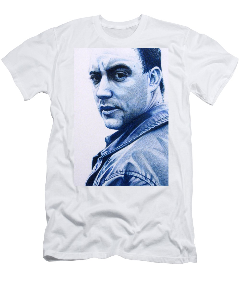 Dave Matthews Men's T-Shirt (Athletic Fit) featuring the drawing Dave Matthews by Joshua Morton