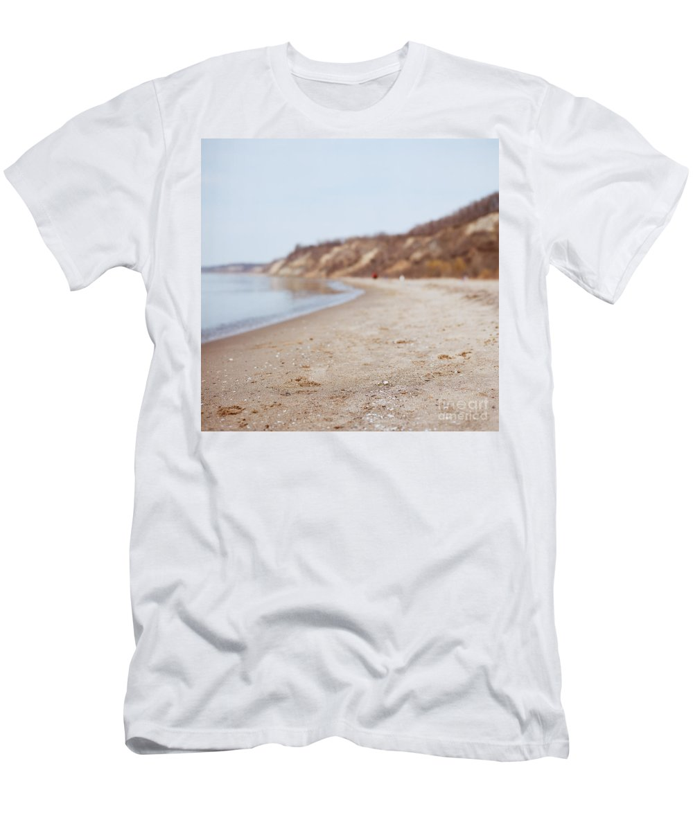 Beach Men's T-Shirt (Athletic Fit) featuring the photograph Day At The Beach II by Mary Smyth